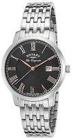 Rotary GB90075-04 Men's Les Originales Stainless Steel Black Dial Stainless