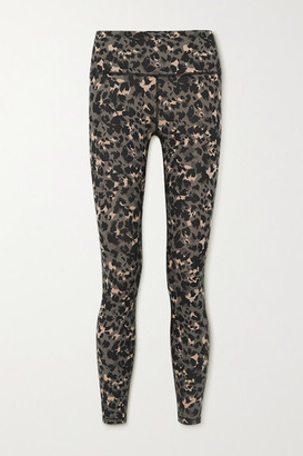 Varley Century Leopard-print Stretch Leggings - Black
