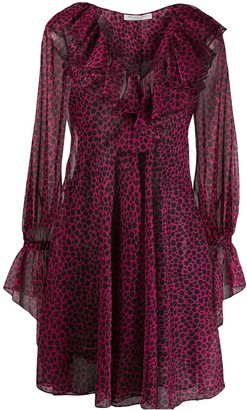 Philosophy di Lorenzo Serafini Ruffle Trim Printed Dress