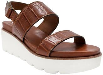 Sugar Ukele Two-Band Platform Wedge Sandal