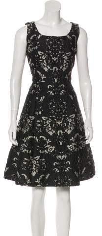 5a0b8c82 Oscar de la Renta Jacquard Dresses - ShopStyle