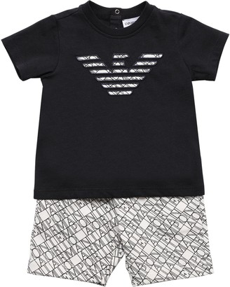 Emporio Armani Cotton Jersey T-Shirt & Shorts