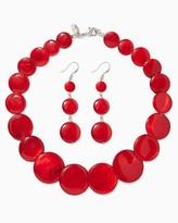Charming charlie Shimmy Disc Necklace Set