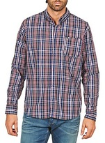 Rip Curl HANDSOME L/S SHIRT Blue / KAKI / Red