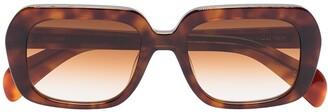 Chimi Voyage square-frame tortoiseshell-effect sunglasses