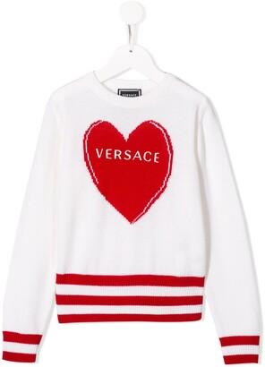 Versace Heart logo knit jumper