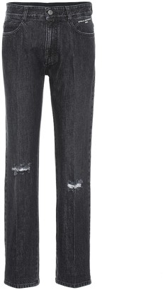 Stella McCartney Distressed high-rise straight jeans