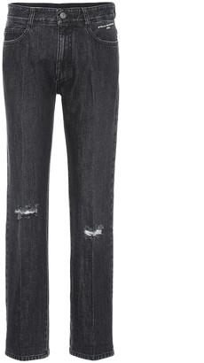 Stella McCartney Distressed high-rise straight jeans
