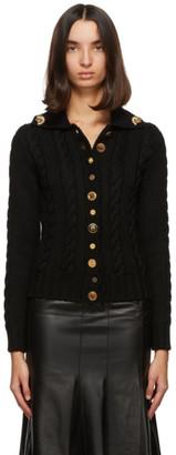 Loewe Black Wool Gold Button Cardigan