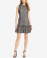American Living Geometric-Print Lace Dress