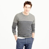 J.Crew Lightweight Italian cashmere crewneck sweater in stripe