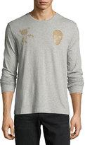 Alexander McQueen Rose & Skull Long-Sleeve Cotton T-Shirt