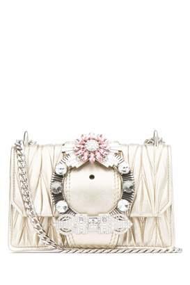 Miu Miu Matelasse Buckle Embellished Shoulder Bag