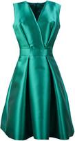 Alberta Ferretti Aqua Green Silk Blend Mini Dress