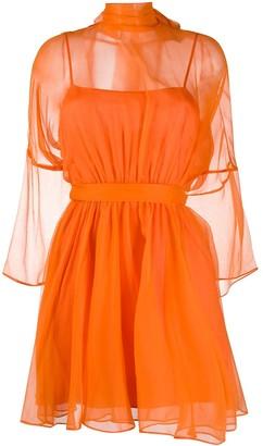Pinko Sheer Sleeve Dress