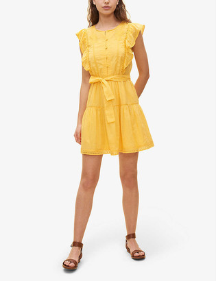 Claudie Pierlot Rike ruffle-trim cotton mini dress