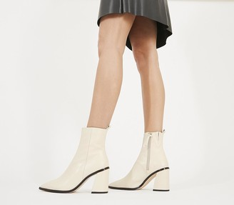 Office Attraction Smart Boots Off White Leather