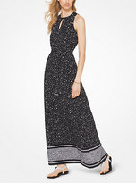 Michael Kors Floral Matte-Jersey Maxi Dress