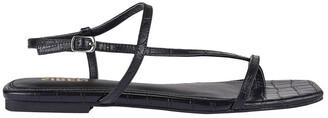 Siren Sahara Black Croc Sandal