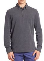 Ralph Lauren Purple Label Long Sleeve Dotted Polo