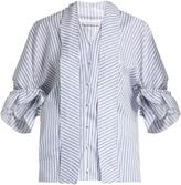 J.W.Anderson Ruffled-cuff striped cotton shirt
