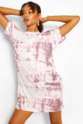 boohoo Tall Tie Dye T-Shirt Dress