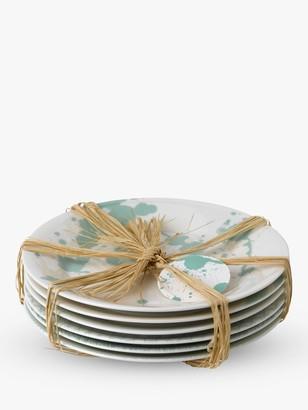 Royal Doulton Pacific Porcelain Tapas Plates, Set of 6, 16cm, Mint