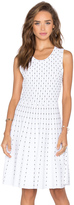 Milly Vertical Dot Flare Dress