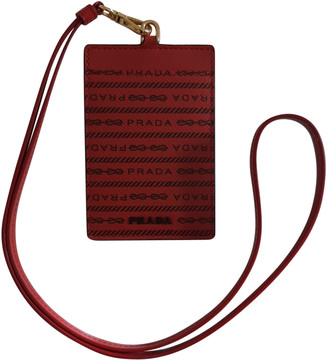 Prada Red Leather Small bags, wallets & cases