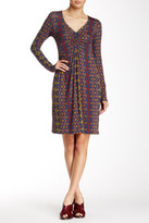 Leota 2451 Long Sleeved Printed Short Dress