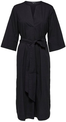 Selected Kaftan Midi Dress - 34