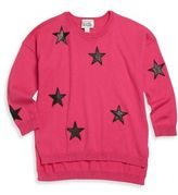 Autumn Cashmere Girl's Star Cashmere-Blend Sweatshirt