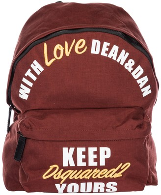 DSQUARED2 Embroidered Logo Backpack