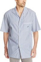 Nautica Men's Woven Stripe Camp Shirt