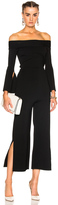 Roland Mouret Felbridge Plain Birdseye Stitch Jumpsuit