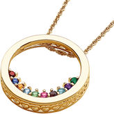 JCPenney FINE JEWELRY Personalized Family Birthstone Circle Slider Pendant