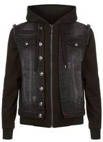 Philipp Plein Division Hooded Denim Jacket