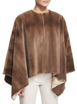 The Row Rongar Mink Fur Poncho, Pastel