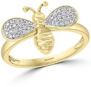 Effy Diamond Bee Ring (1/6 ct. t.w.) in 14k Gold