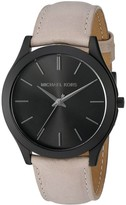Michael Kors MK8510 Black IP Stainless Steel & Leather Black Dial 44mm Men