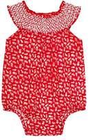 Sense Organics Baby Girls' All Over Print Romper Red Rot (tiny pinapple AOP 887010)
