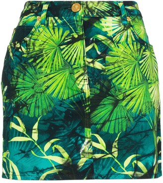 Versace Jungle print mini skirt