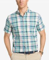 Izod Men's Saltwater Dockside Plaid Cotton Shirt