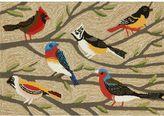 Liora Manné Trans Ocean Imports Frontporch Birds Indoor Outdoor Rug