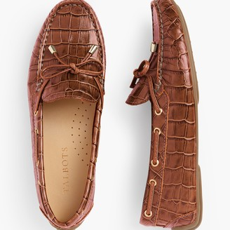 Talbots Taylor Laced Driving Moccasins - Embossed