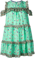 Manoush floral print ruffled dress - women - Silk - 36