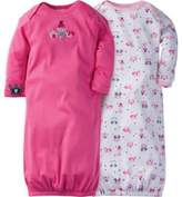 Gerber Size 0-3M 2-Pack Princess Gowns