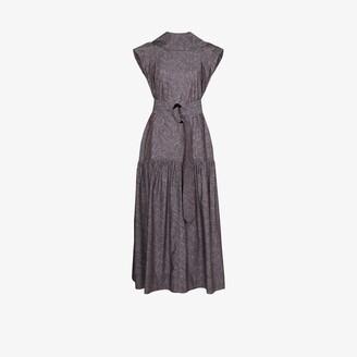 NACKIYÉ Opium printed cotton maxi dress