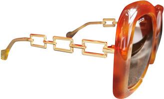 Gucci Orange Plastic Sunglasses