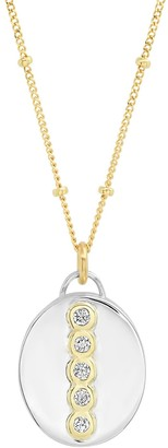"""Elliot Young Fine Jewelry Sterling Silver And14K Gold Oval """"Love Locket"""" With Diamonds"""